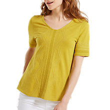 Buy White Stuff Nevai Embroidered Jersey T-Shirt, Tourmaline Online at johnlewis.com