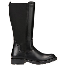 Buy Geox Children's Sofia Leather Boots, Black Online at johnlewis.com