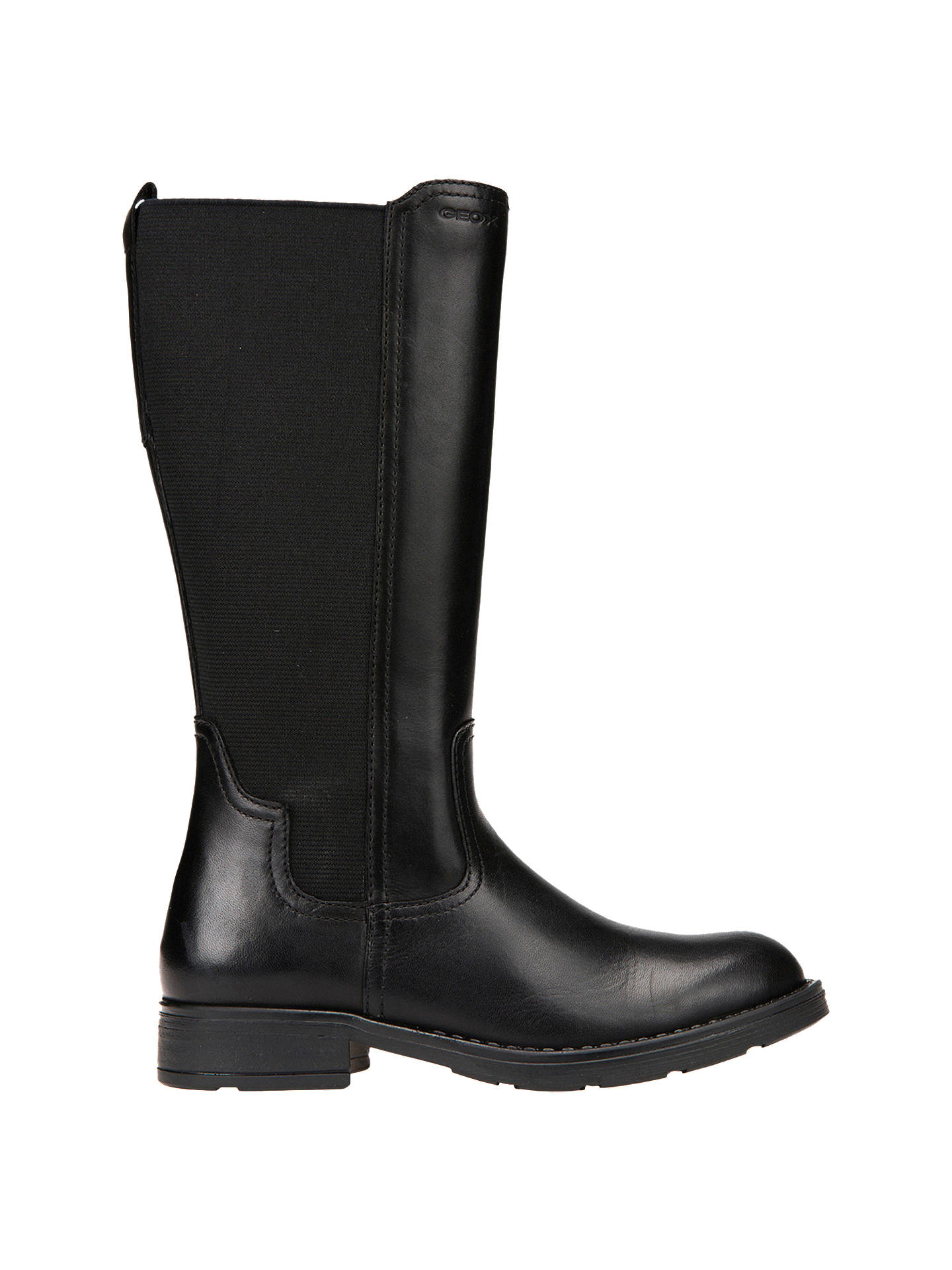 Geox Children's Sofia Leather Boots, Black at John Lewis