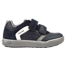 Buy Geox Children's Azrach Rip Tape Shoes, Navy/Grey Online at johnlewis.com