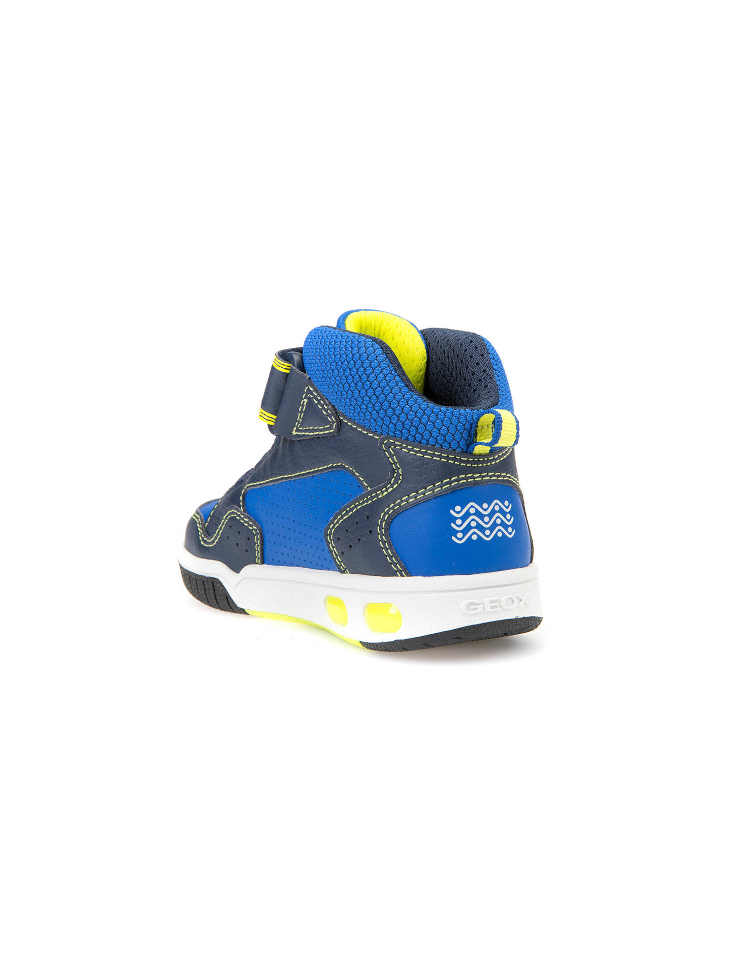 Geox Children's Gregg Rip Tape Trainers, NavyLime at John