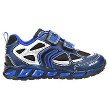 Buy Geox Children's Shuttle Rip-Tape Trainers, Navy Royal Online at johnlewis.com