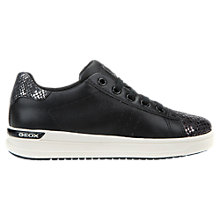 Buy Geox Children's Aveup Trainers, Black Online at johnlewis.com
