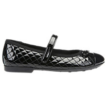 Buy Geox Children's Junior Pliè Ballet Flats, Black Patent Online at johnlewis.com
