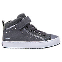 Buy Geox Children's Kalispera Zip Trainers, Grey Online at johnlewis.com