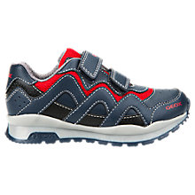 Buy Geox Children's Pavel Riptape Trainers, Navy/Red Online at johnlewis.com