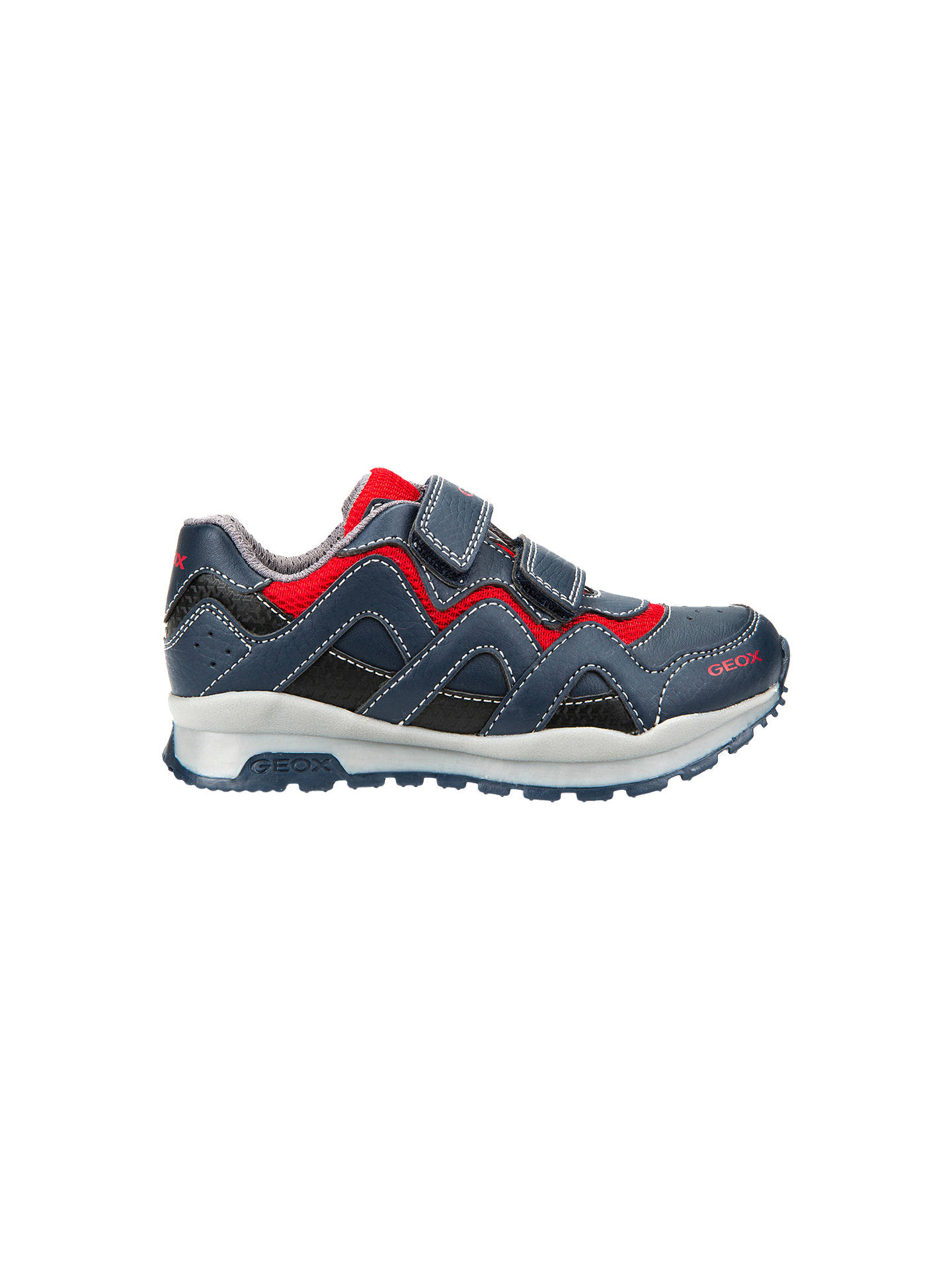 1c6dc7e4cf0e1 Buy Geox Children's Pavel Riptape Trainers, Navy/Red, 26 Online at  johnlewis.