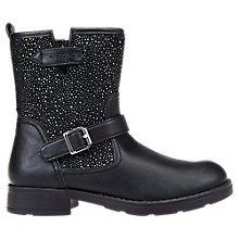 Buy Geox Children's Sofia Decorated Ankle Boots, Black Online at johnlewis.com