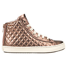 Buy Geox Children's Kalispera Zip Trainers, Rose Online at johnlewis.com