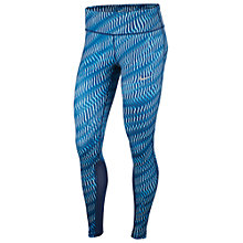 Buy Nike Power Epic Running Tights, Blue Online at johnlewis.com