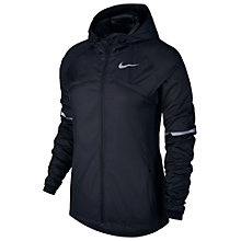 Buy Nike Shield Hooded Women's Running Jacket, Black Online at johnlewis.com