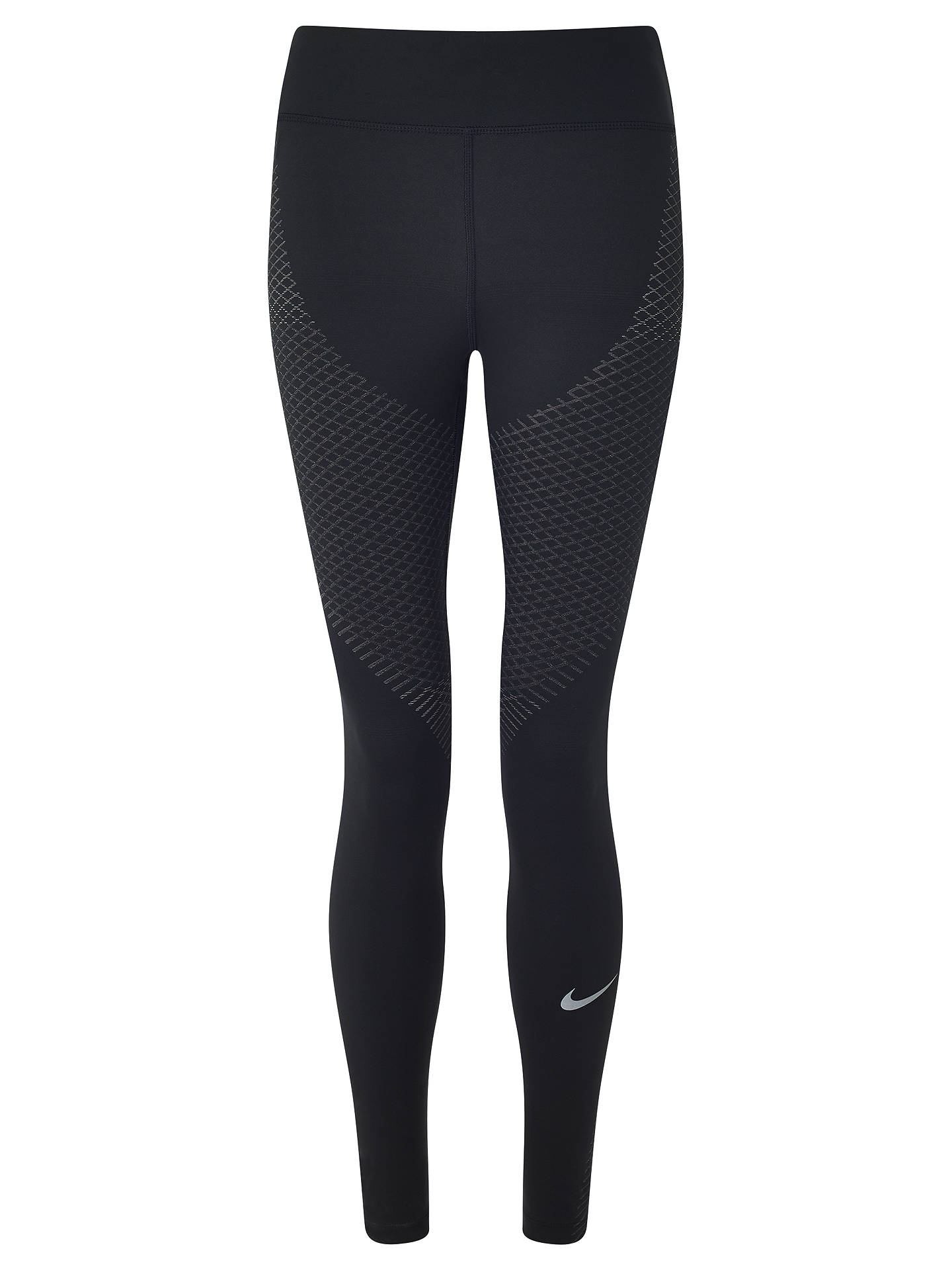 75bb7593495e3 Buy Nike Zonal Strength Print Running Tights, Black, XS Online at  johnlewis.com