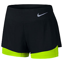 Buy Nike Flex 2-in-1 Running Shorts, Black/Volt Online at johnlewis.com