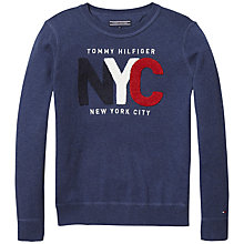 Buy Tommy Hilfiger Boys' Towelling Sweatshirt, Navy Online at johnlewis.com