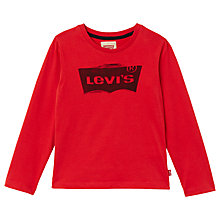 Buy Levi's Boys' Bat Ketchup T-Shirt, Red Online at johnlewis.com