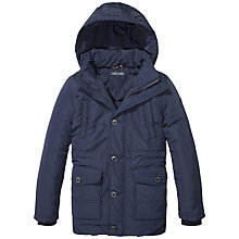 Buy Tommy Hilfiger Boys' Padded Parka Jacket, Navy Online at johnlewis.com