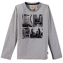 Buy Levi's Boys' Long Sleeve City T-Shirt, Grey Online at johnlewis.com