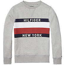 Buy Tommy Hilfiger Boys' Long Sleeve Crew Neck Sweatshirt Online at johnlewis.com