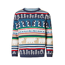 Buy John Lewis Boys' Christmas Character Knit Jumper, Multi Online at johnlewis.com