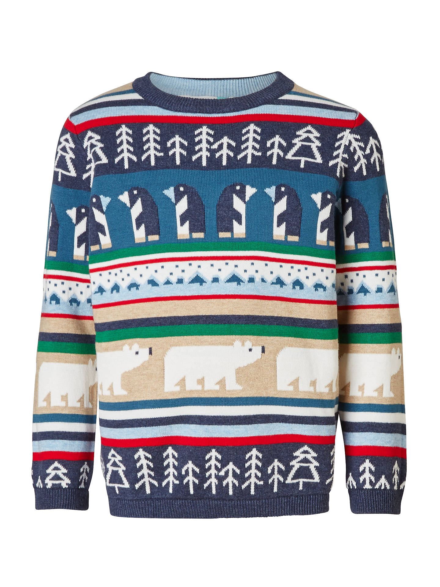 John Lewis Boys Christmas Character Knit Jumper Multi At John