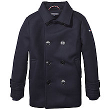 Buy Tommy Hilfiger Padded Pea Coat Jacket, Navy Online at johnlewis.com