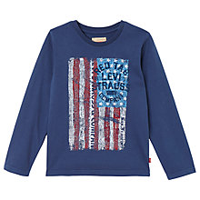 Buy Levi's Boys' Long Sleeve Pigmy T-Shirt, Dark Blue Online at johnlewis.com
