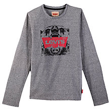 Buy Levi's Boys' Leon Branded T-Shirt, Grey Online at johnlewis.com