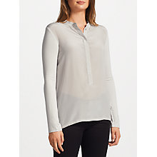 Buy Marella Umbria Silk Front Jersey Top, Light Grey Online at johnlewis.com