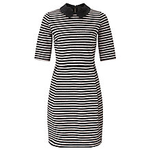 Buy Marella None Stripe Jersey Dress, Powder Online at johnlewis.com