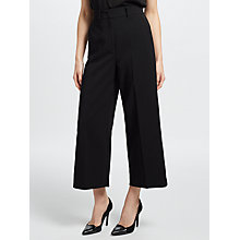 Buy Marella Fantasy Cropped Wide Leg Trousers, Black Online at johnlewis.com
