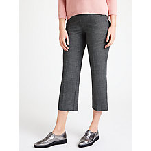 Buy Marella Nausica Checked Trousers, Dark Grey Online at johnlewis.com