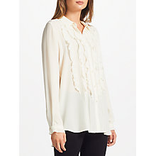 Buy Marella Alare Ruffle Blouse, Cream Online at johnlewis.com