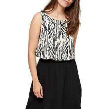 Buy Selected Femme Lauren Printed Top, Black Online at johnlewis.com