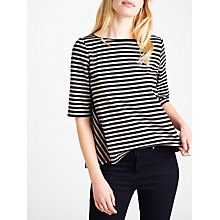 Buy Marella Grado Stripe Jersey Top, Powder Online at johnlewis.com