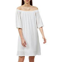 Buy Selected Femme Carin Off Shoulder Dress, Snow White Online at johnlewis.com