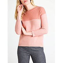 Buy Marella Fetta Contrast Jumper, Pink Online at johnlewis.com
