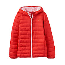 Buy Little Joule Girls' Kinnaird Pack Away Padded Puffer Jacket, Red Online at johnlewis.com