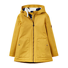 Buy Little Joule Girls' Packaway Utility Coat, Yellow Online at johnlewis.com