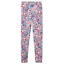 Buy Little Joule Girls' Floral Print Leggings, Soft Grey Online at johnlewis.com