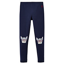 Buy Little Joule Girls' Puppy Character Leggings, French Navy Online at johnlewis.com