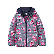 Buy Little Joule Girls' Floral Pack Away Padded Jacket, Navy/Pink Online at johnlewis.com