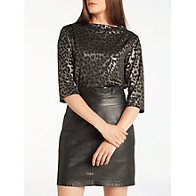 Buy Numph Grumichana Blouse, Caviar Online at johnlewis.com