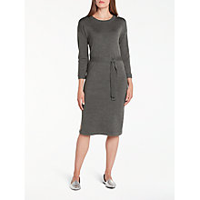 Buy Numph Nageia Knitted Dress, Dark Grey Melange Online at johnlewis.com