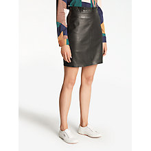 Buy Numph Chenet Leather Skirt, Caviar Online at johnlewis.com