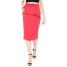 Buy Miss Selfridge Origami Pencil Skirt, Fushia Rose Online at johnlewis.com
