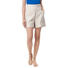 Buy L.K. Bennett Nixie Linen Blend Shorts, Grey Online at johnlewis.com