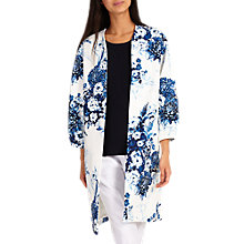 Buy Phase Eight Chinoiserie Print Coat, White Online at johnlewis.com