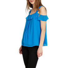 Buy Phase Eight Robyn Cold Shoulder Blouse, Calypso Blue Online at johnlewis.com