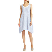 Buy Phase Eight Bryony Double Layer Linen Dress, Blue/Ivory Online at johnlewis.com