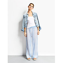Buy hush Provence Trousers, White/French Blue Online at johnlewis.com